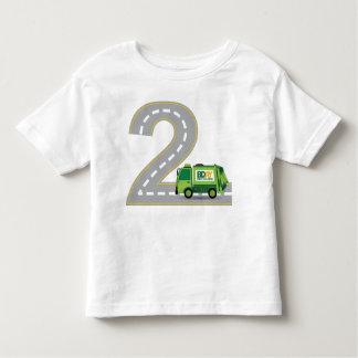 Camiseta Infantil T-shirt do caminhão de lixo do segundo aniversário