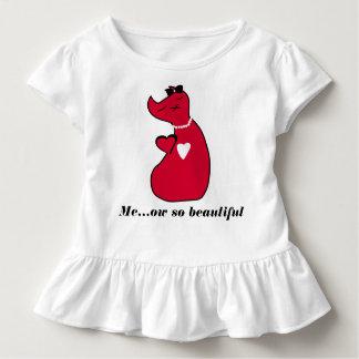 Camiseta Infantil T-shirt do gato do gatinho do T do plissado da