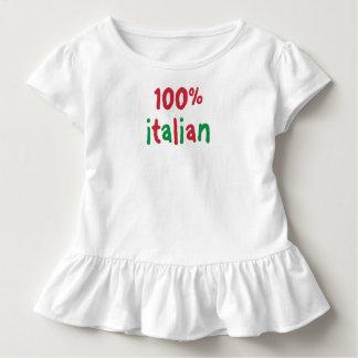 Camiseta Infantil T-shirt do italiano das meninas