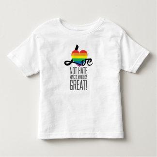 Camiseta Infantil T-shirt do jérsei da criança do ódio do amor não