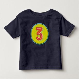 Camiseta Infantil T-shirt do número 3 dos miúdos