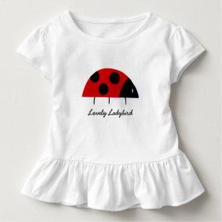 """Camiseta Infantil """"T-shirt do plissado da criança da joaninha"""