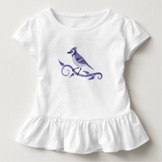 Camiseta Infantil T-shirt do plissado da criança de Jay azul