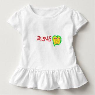 """Camiseta Infantil T-shirt do plissado da criança de """"Jesus"""""""