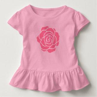 Camiseta Infantil T-shirt do plissado da criança do rosa do rosa
