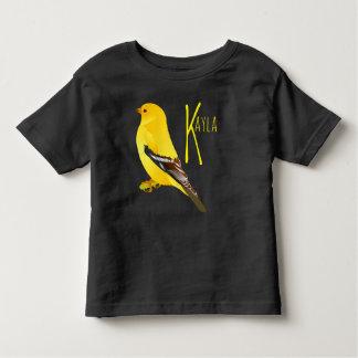 Camiseta Infantil T-shirt do preto do jérsei da multa da criança do