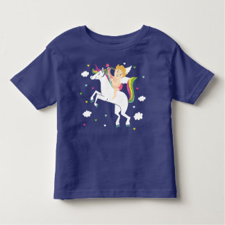 Camiseta Infantil T-shirt do unicórnio do Cupido