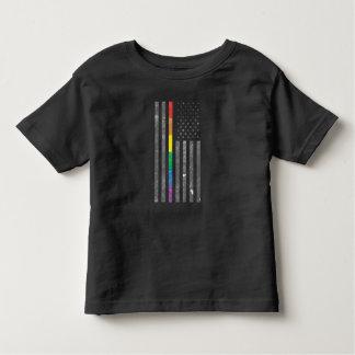 Camiseta Infantil T-shirt escuro do jérsei da criança americana da