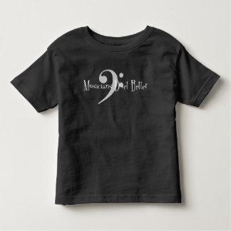 Camiseta Infantil T-shirt escuro do jérsei da criança do dueto