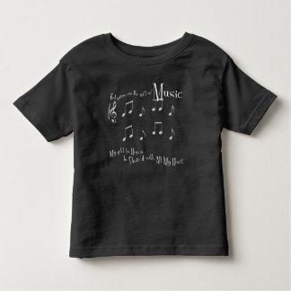 Camiseta Infantil T-shirt escuro do jérsei da criança do presente