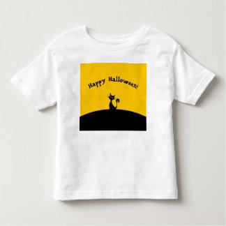 Camiseta Infantil T-shirt feliz do gato do Dia das Bruxas