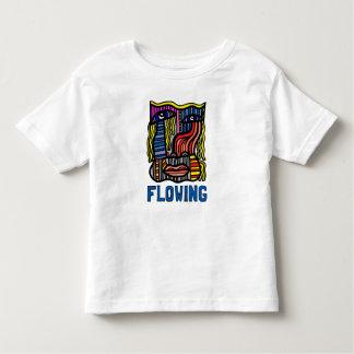 """Camiseta Infantil T-shirt fino """"de fluxo"""" do jérsei da criança"""