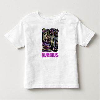 """Camiseta Infantil T-shirt fino do jérsei da criança """"curiosa"""""""