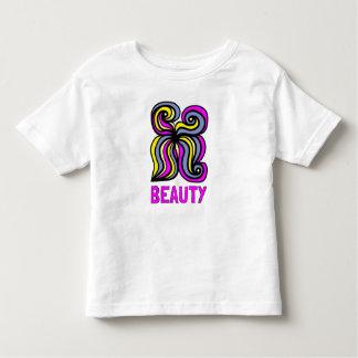 """Camiseta Infantil T-shirt fino do jérsei da criança da """"beleza"""""""