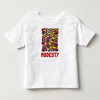 """Camiseta Infantil T-shirt fino do jérsei da criança da """"modéstia"""""""