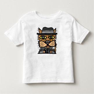 """Camiseta Infantil T-shirt fino do jérsei da criança do """"gângster"""""""