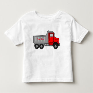 Camiseta Infantil T-shirt grande 4-5T de Tagless do NOME do caminhão