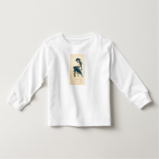 Camiseta Infantil T-shirt longo azul da luva de Jay da criança de