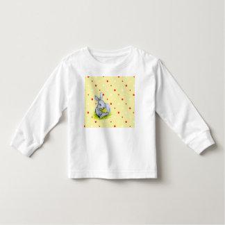 Camiseta Infantil T-shirt longo da criança do jérsei da luva da
