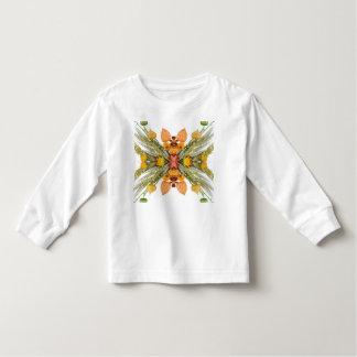 Camiseta Infantil T-shirt longo da luva da criança