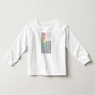 Camiseta Infantil T-shirt longo da luva da criança americana da
