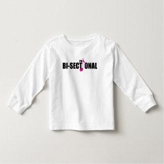 Camiseta Infantil T-shirt longo da luva da criança Bisectional