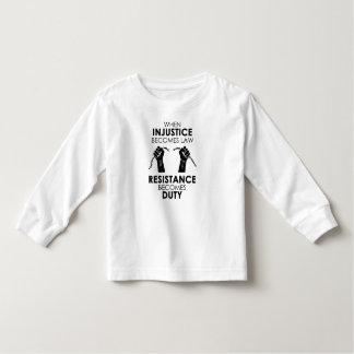Camiseta Infantil T-shirt longo da luva da criança da injustiça