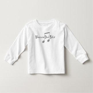 Camiseta Infantil T-shirt longo da luva da criança do dueto (notas)