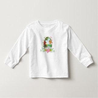 Camiseta Infantil T-shirt longo da luva da criança do rei e da