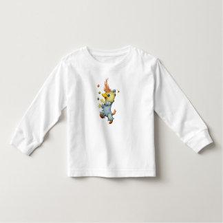 Camiseta Infantil T-shirt longo da luva da criança dos DESENHOS