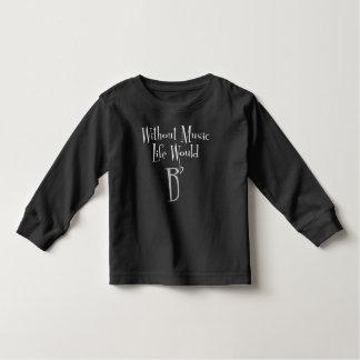 Camiseta Infantil T-shirt longo escuro da luva da criança lisa de B