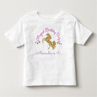 Camiseta Infantil T-shirt mágico do aniversário da menina do