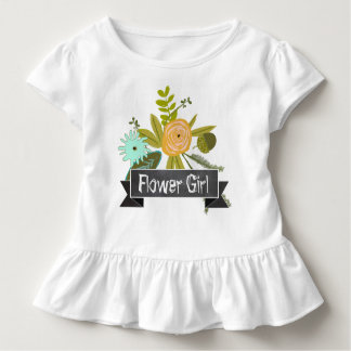 Camiseta Infantil T-shirt moderno do casamento do florista do quadro