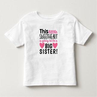 Camiseta Infantil T-shirt pequeno do anúncio da gravidez do querido