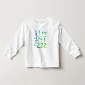 Camiseta Infantil T-shirt por muito tempo Sleeved da criança de