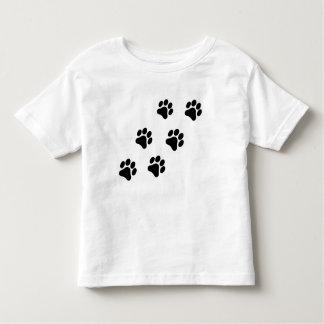 Camiseta Infantil T-shirt preto e branco da criança do teste padrão