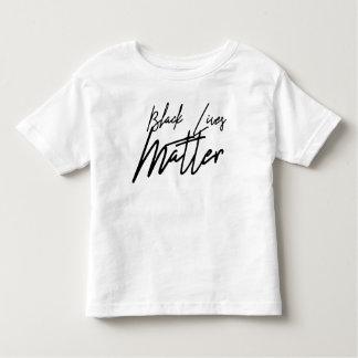Camiseta Infantil T-shirt preto escrito à mão da criança da matéria