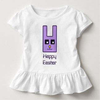 Camiseta Infantil T-shirt quadrado do plissado da criança do