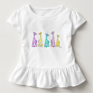 Camiseta Infantil T-shirt Ruffled criança dos girafas do bebê em