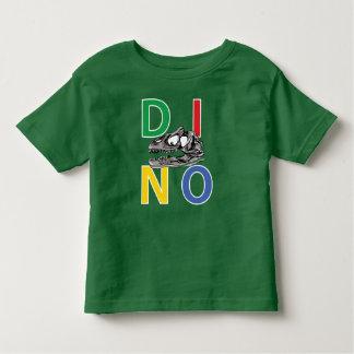 Camiseta Infantil T-shirt verde do jérsei da multa de DINO - de