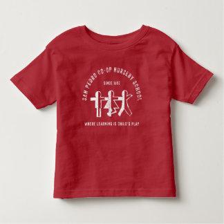 Camiseta Infantil T-shirt vermelho do estudante do infantário da