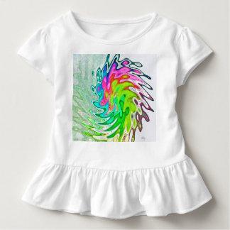Camiseta Infantil T-shirt vibrante do plissado do miúdo de J