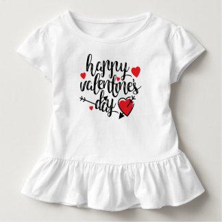 Camiseta Infantil T simples do plissado do feliz dia dos namorados