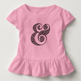 Camiseta Infantil T textured preto do plissado da criança do círculo