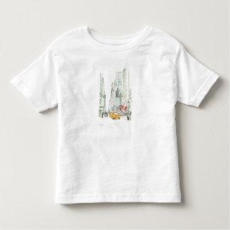 Camiseta Infantil Táxi de New York