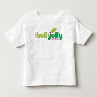 Camiseta Infantil Tenha um T alegre da criança do Natal do azevinho