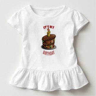 Camiseta Infantil Terno do corpo do bebê do aniversário