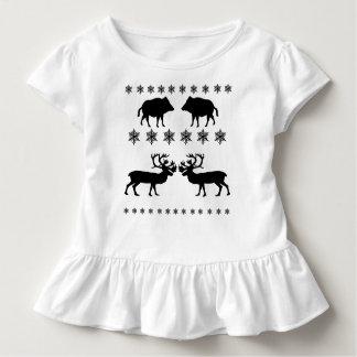 Camiseta Infantil Teste padrão do inverno