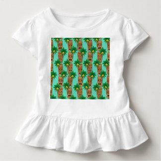 Camiseta Infantil Teste padrão havaiano da repetição de Tiki