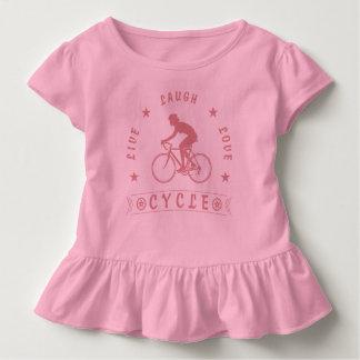 Camiseta Infantil Texto da Vida Riso Amor Ciclo da senhora (rosa)